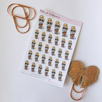 Happy mail girl planner stickers - choose your planner girl.