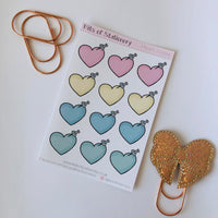 Heart note stickers