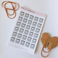 Washing Machine planner stickers hand drawn