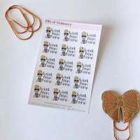 Work | Back to Work | Work from home planner girl stickers - choose your planner girl hand drawn