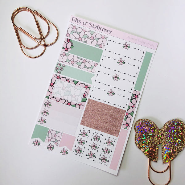 Floral ADD ON SHEET hand drawn planner stickers