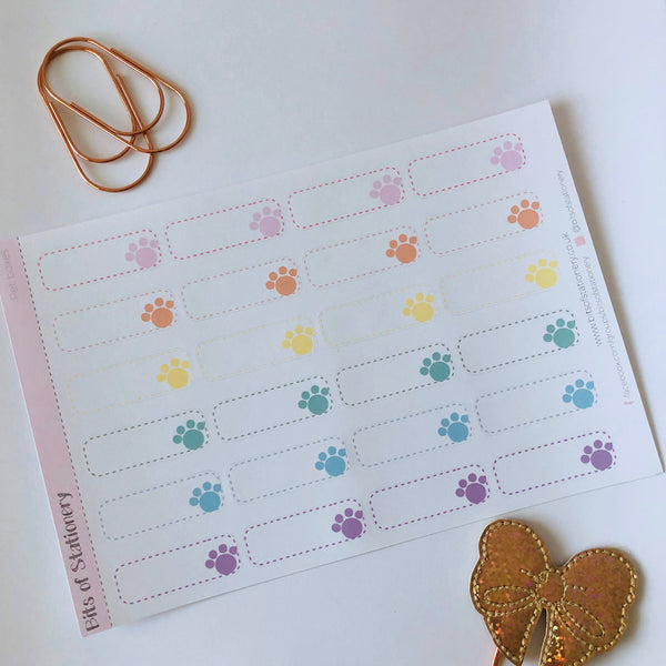 Pet boxes planner stickers hand drawn