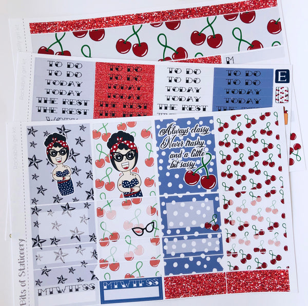 Rockabilly girl mini kit *Add on sheet available*