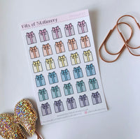 Presents planner stickers hand drawn