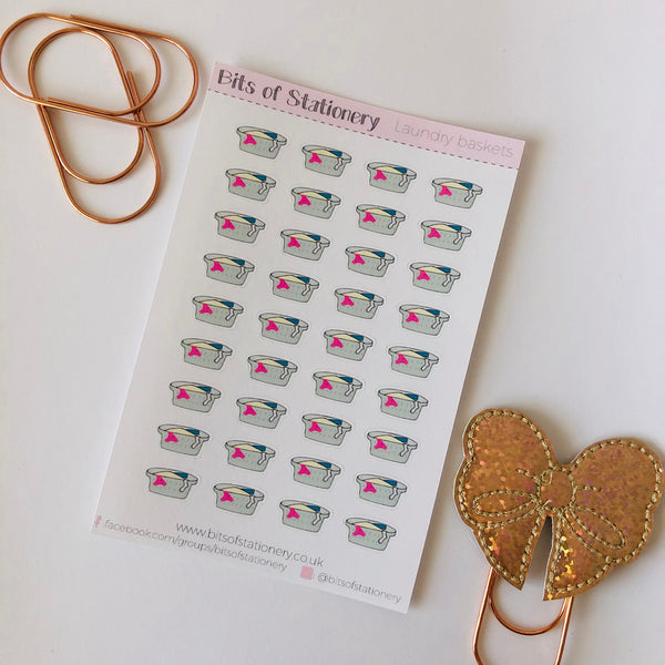 Hand drawn Laundry basket planner stickers