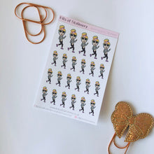 Load image into Gallery viewer, Running girl hand drawn planner stickers - choose your planner girl