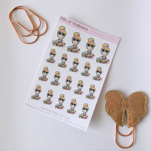 Takeout girl planner stickers - choose your planner girl. Hand drawn