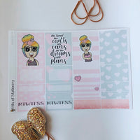 Heart girl mini kit *Add on sheet available*