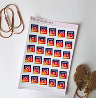 IG Social media planner stickers hand drawn
