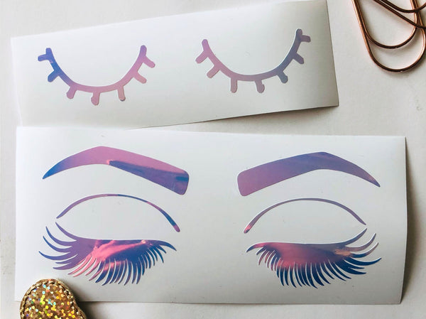 VINYL eyelash stickers - choose style and colour