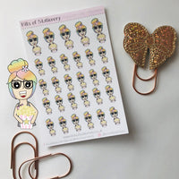 Popcorn planner girl planner stickers - choose your planner girl.