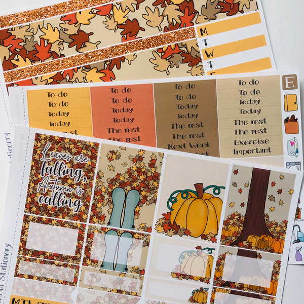 Autumn mini kit *Add on sheet available*