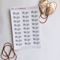 Yoga word planner stickers