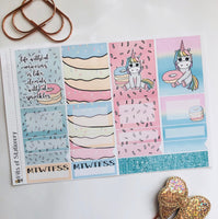 Unicorns and donuts mini kit *Add on sheet available*