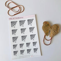 Spiderweb planner stickers