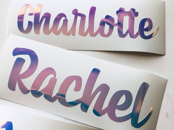 VINYL PERSONALISED name planner stickers - choose colour