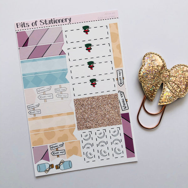 Alice ADD ON SHEET hand drawn planner stickers