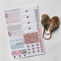Birthday girl kit ADD ON SHEET hand drawn planner stickers