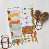 Pumpking picking kit ADD ON SHEET hand drawn planner stickers