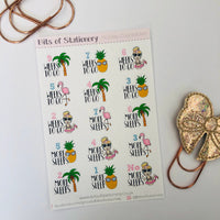 Holiday Vacation countdown planner stickers