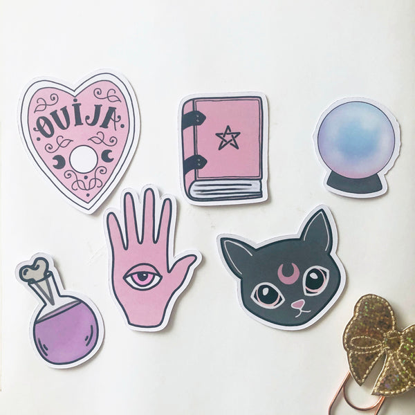 Spell time hand drawn die cut set