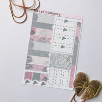 Winter girl ADD ON SHEET hand drawn planner stickers