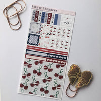 Rockabilly girl hobonichi weeks kit hand drawn planner stickers