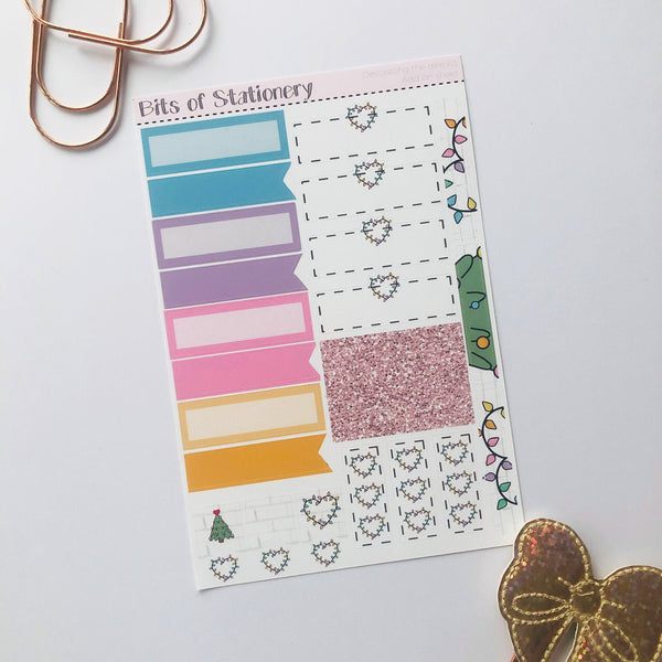 Decorating the tree ADD ON SHEET hand drawn planner stickers
