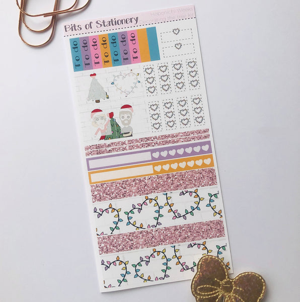 Decorating the tree hobonichi weeks kit hand drawn planner stickers