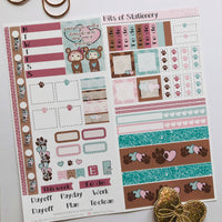 Bear hobonichi weeks kit hand drawn planner stickers