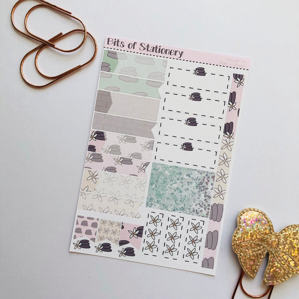Spa girl ADD ON SHEET hand drawn planner stickers