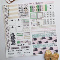 Spa girl hobonichi weeks kit hand drawn planner stickers
