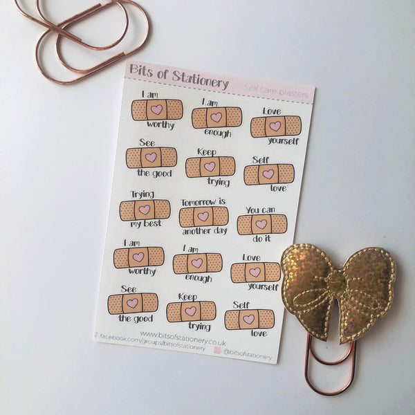 Self care plasters planner stickers