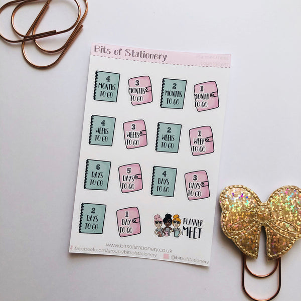 Planner meet countdown planner stickers