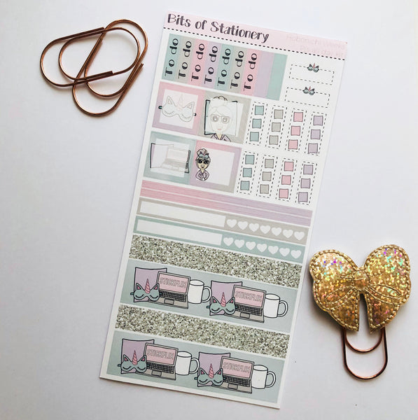 Pj's all day hobonichi weeks kit hand drawn planner stickers