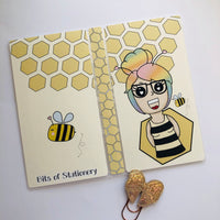 Bee girl hobonichi weeks sticker storage folder