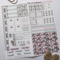 Floral hobonichi weeks kit hand drawn planner stickers