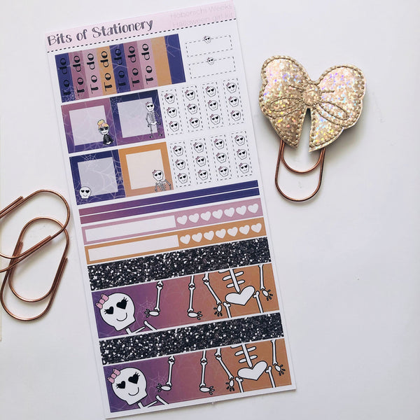 Halloween girl hobonichi weeks kit hand drawn planner stickers