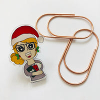 Bits of Stationery Exclusive planner girl pin badge