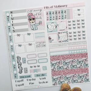 Winter vibes hobonichi weeks kit hand drawn planner stickers