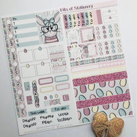 Easter bunny hobonichi weeks kit hand drawn planner stickers