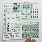 Fannie the Frog leap year hobonichi weeks kit hand drawn planner stickers