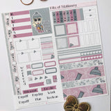 Winter girl hobonichi weeks kit hand drawn planner stickers