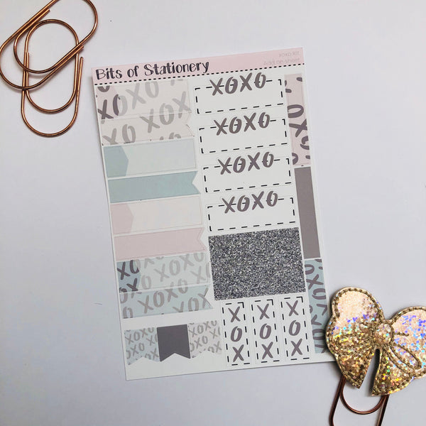 xoxo ADD ON SHEET hand drawn planner stickers