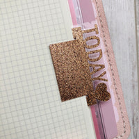 ONE today GLITTER page marker - Choose colour