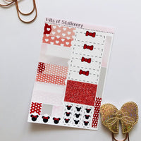 Mouse girl ADD ON SHEET hand drawn planner stickers