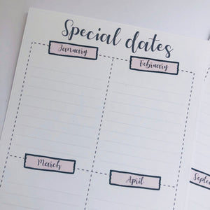 Special dates Hobonichi weeks full page planner stickers