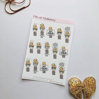 Emotions 2 girls planner stickers - choose your planner girl