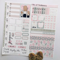 Mother's Day hobonichi weeks kit hand drawn planner stickers