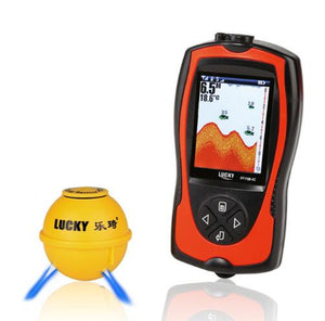 Rechargeable Wireless Remote Sonar Sensor LCD Fish Finder